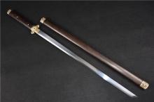 01301铜装牡丹直刀