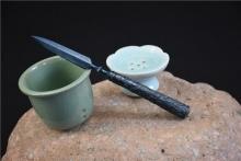 01629龙泉一体钢茶刀
