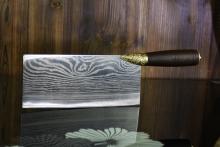 01672 龙泉花纹切菜刀2