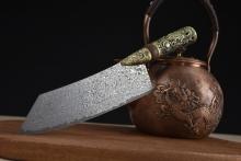 02734 大马士革VG-10钢龙柄小厨刀